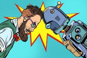 Robot vs człowiek w kanbanie